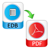 conversion exchange database to pdf