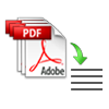 extract text from PDF files