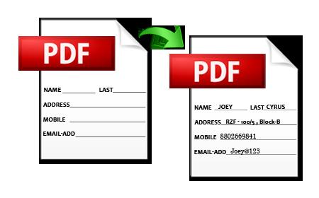 Adobe Acrobat PDF Form Filler Tool to Fill & Edit PDF File